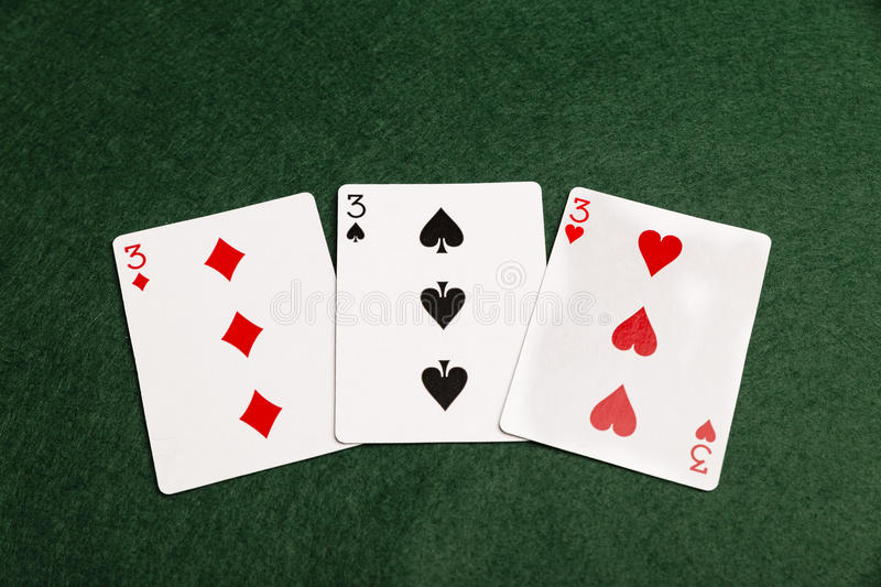 A Prial Of Threes royalty free stock image