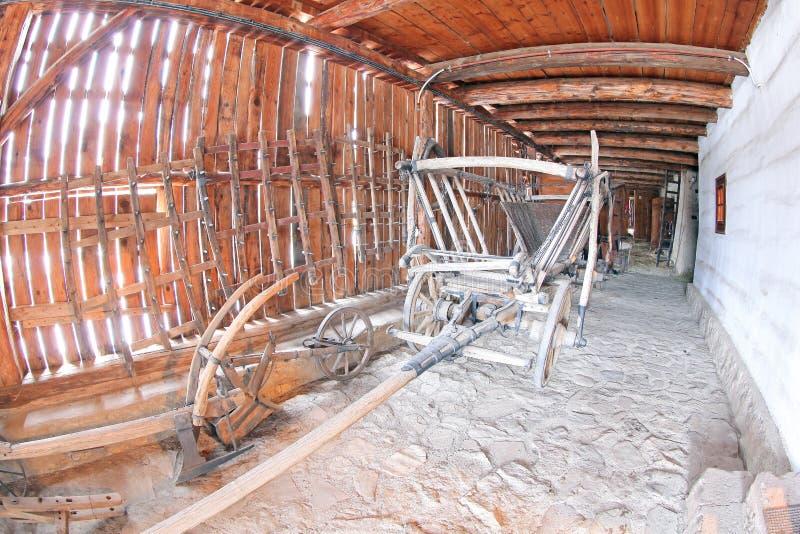 Pribylina - εσωτερικό του αγροτικού σπιτιού στοκ εικόνα με δικαίωμα ελεύθερης χρήσης