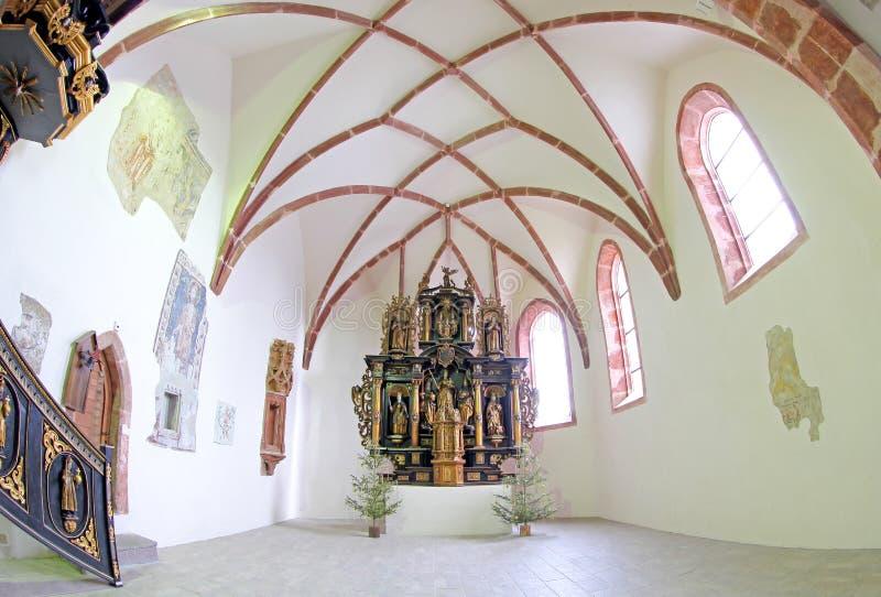 Pribylina - intérieur d'église image stock