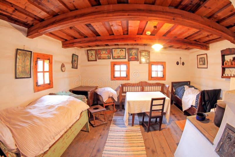 Pribylina - intérieur de maison rurale photos libres de droits