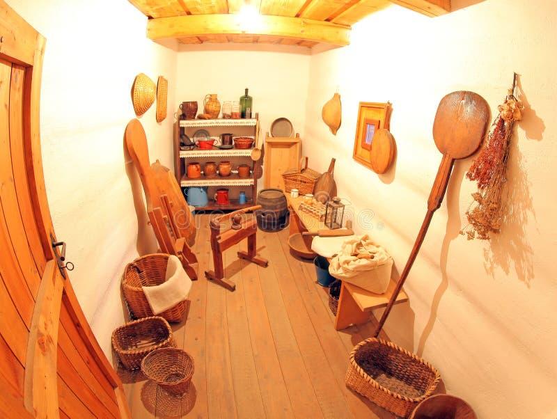 Pribylina - intérieur de maison rurale photo libre de droits