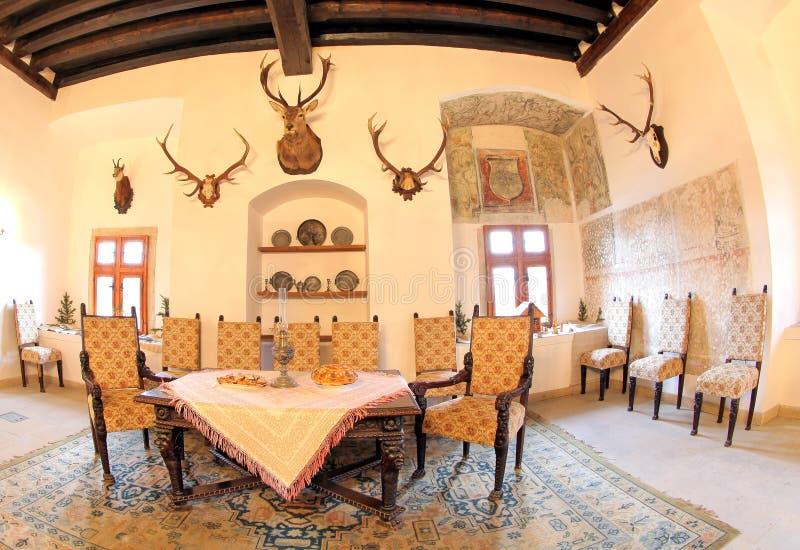 Pribylina - interior de la casa rural imagen de archivo libre de regalías