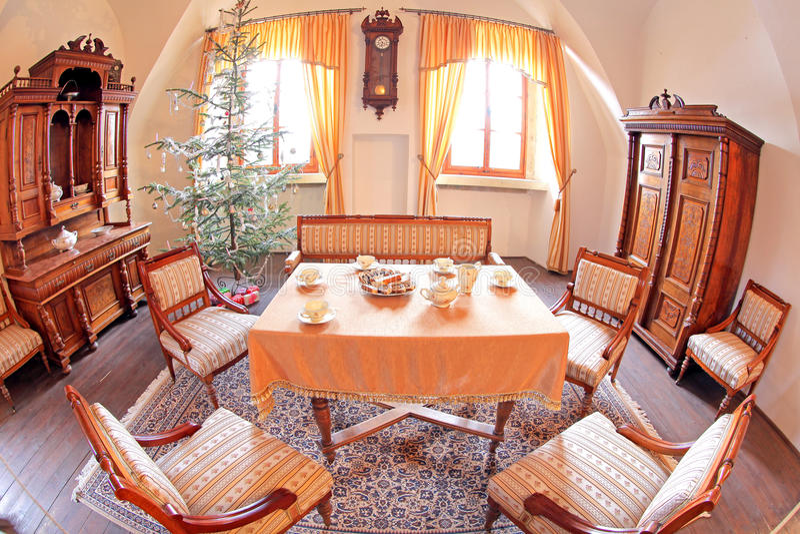 Pribylina - interior de la casa rural imágenes de archivo libres de regalías