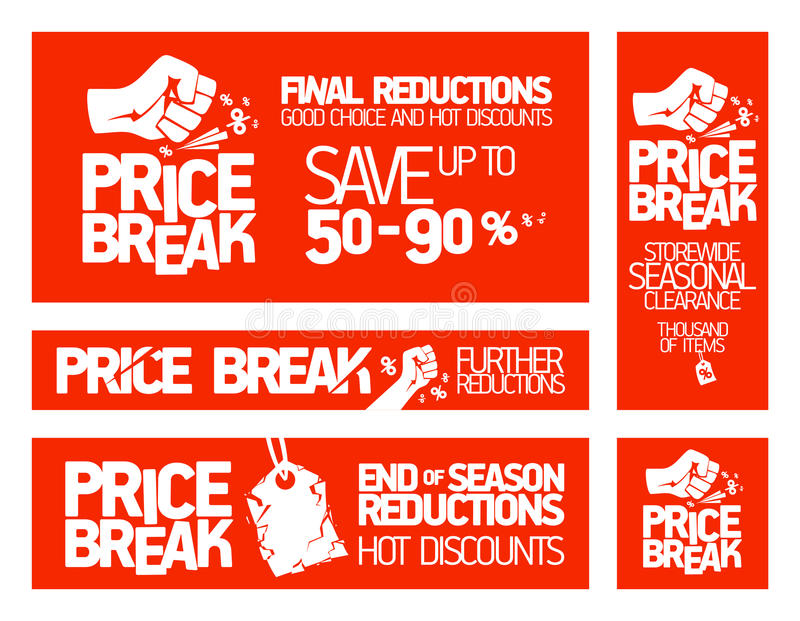 Price break banners.
