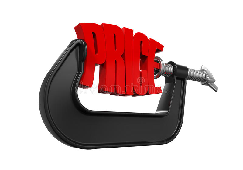 Price in Clamp royalty free illustration