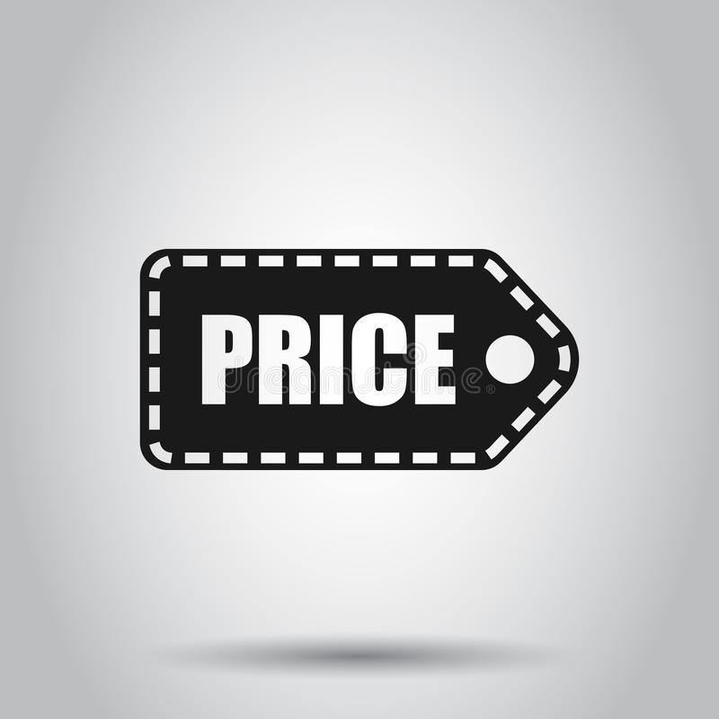 Price coupon icon in flat style. Price tag vector illustration on isolated background. Sale sticker business concept stock illustration