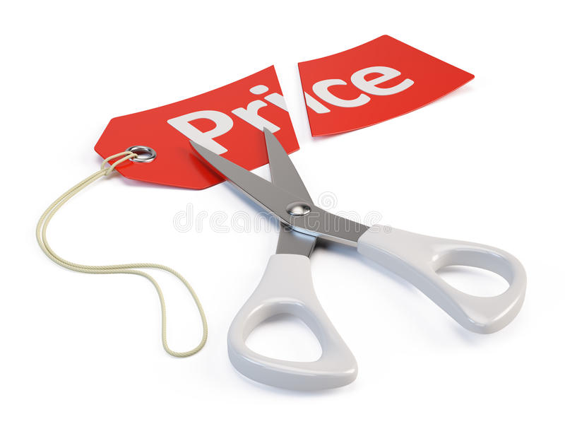 Price cut. Concept - 3d render vector illustration