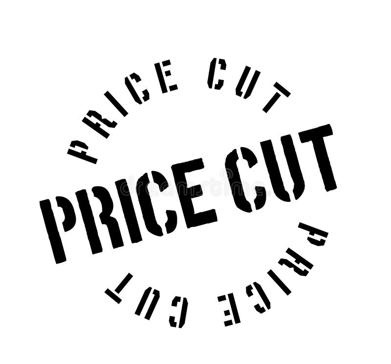 Price Cut rubber stamp. Grunge design with dust scratches. Effects can be easily removed for a clean, crisp look. Color is easily changed stock illustration