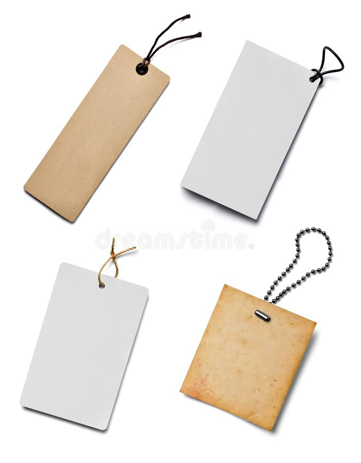 Price label note sign tag. Collection of various price label notes on white background. each one is shot separately stock images