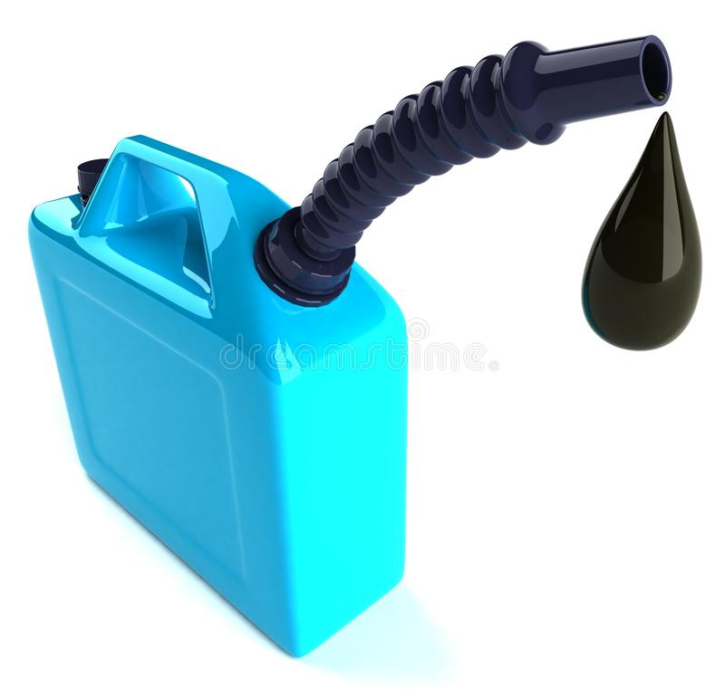 Price of oil going up royalty free stock photo