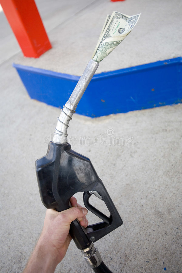 Price at the pump stock photography