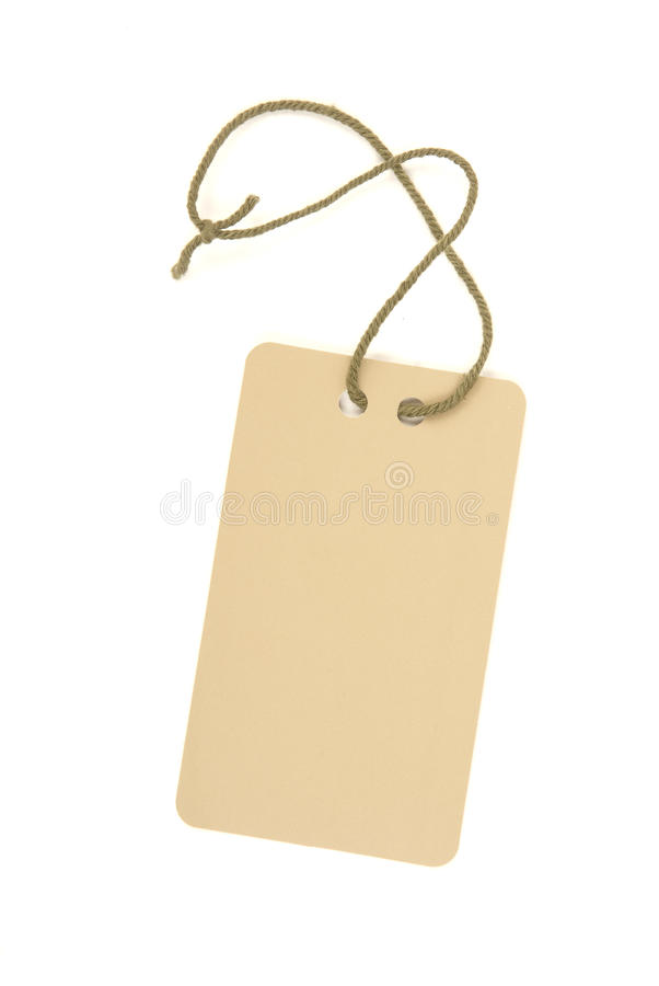 Price tag stock image