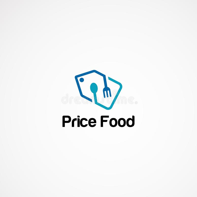 Price tag food logo designs concept, icon, element, and template for company.  royalty free illustration