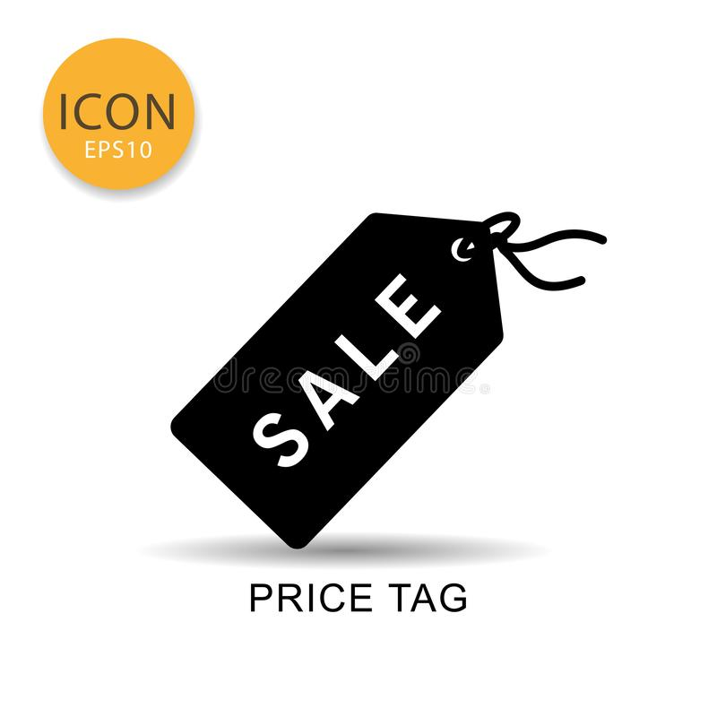 Price tag icon isolated flat style. stock illustration