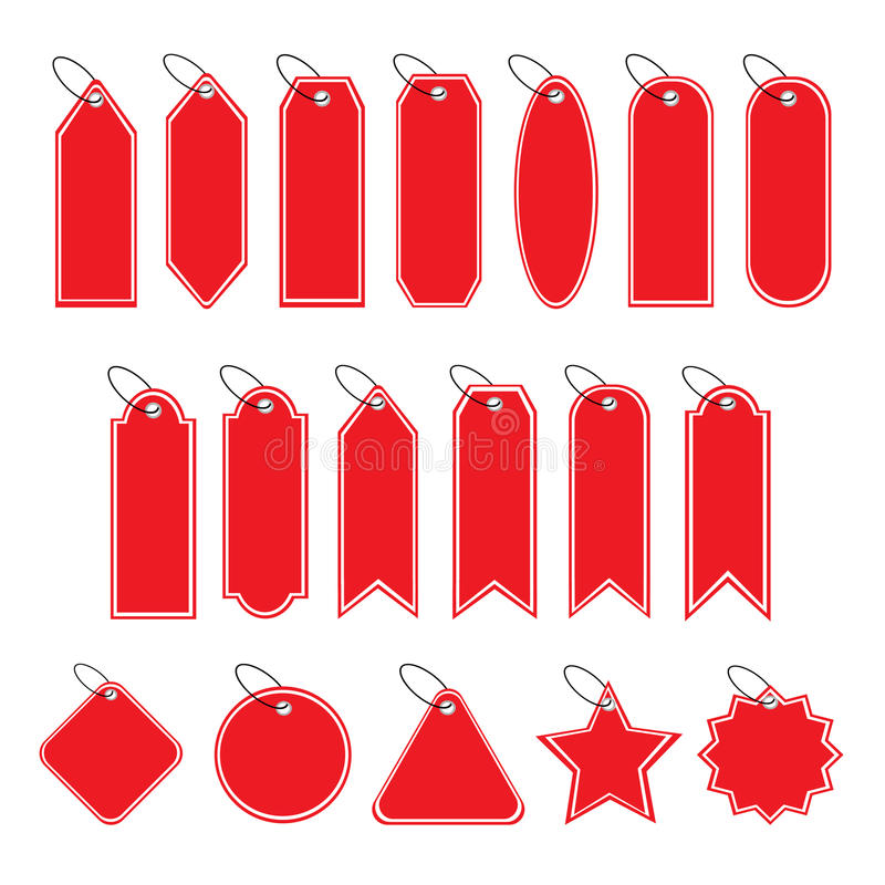 Price Tag Label. Various type of price tag labels royalty free illustration