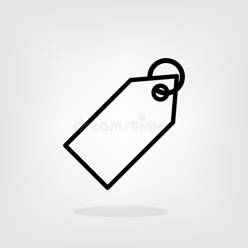 Price tag outline vector icon sale label icon for graphic design, logo, web site, social media, mobile app, ui.  stock illustration