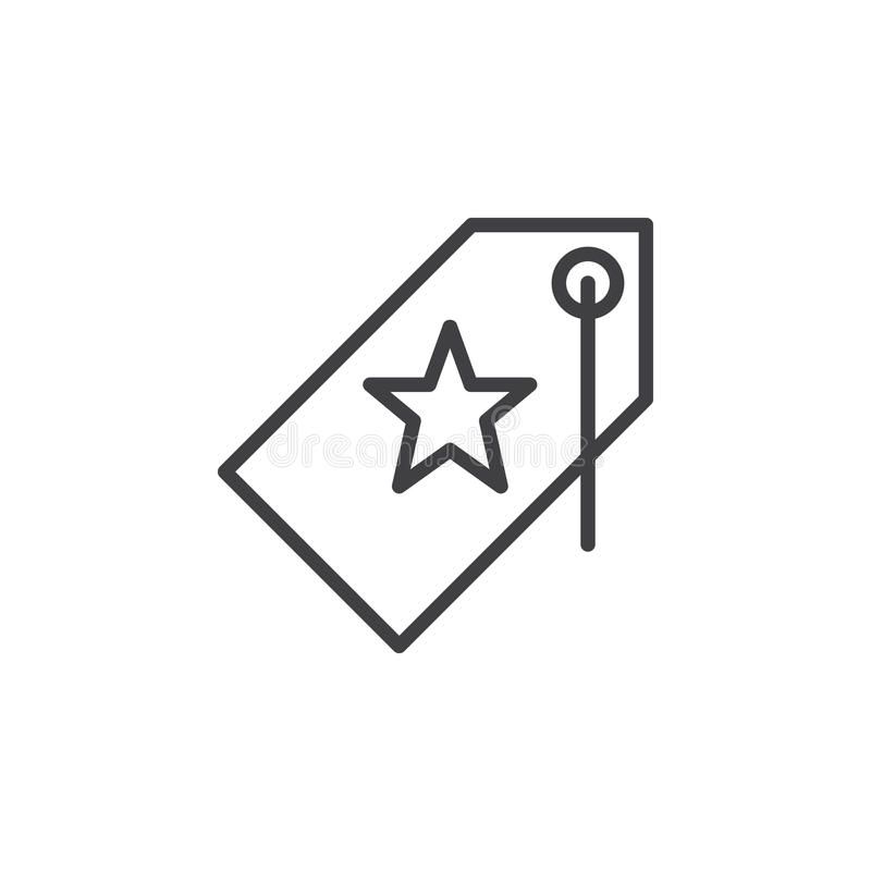 Price tag with star line icon outline vector sign stock vector download price tag with star line icon outline vector sign stock vector illustration of sciox Gallery