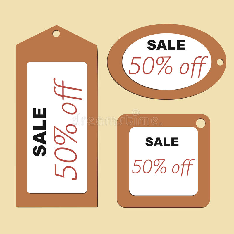 Price tags of different shapes. royalty free illustration