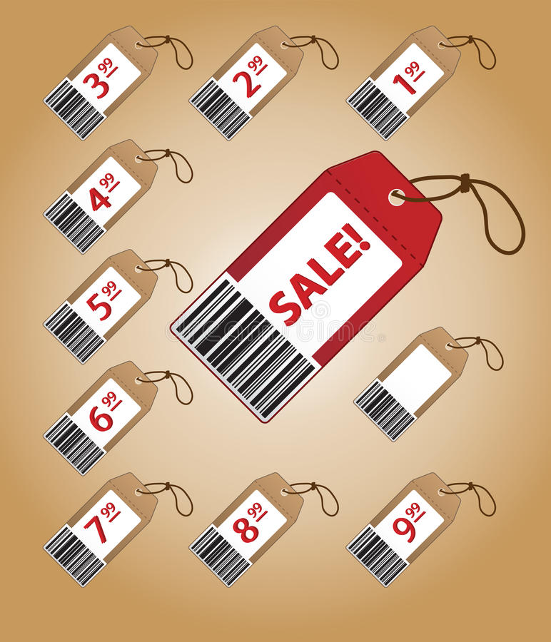 Download Price tags with prices stock vector. Image of bargain - 21148688