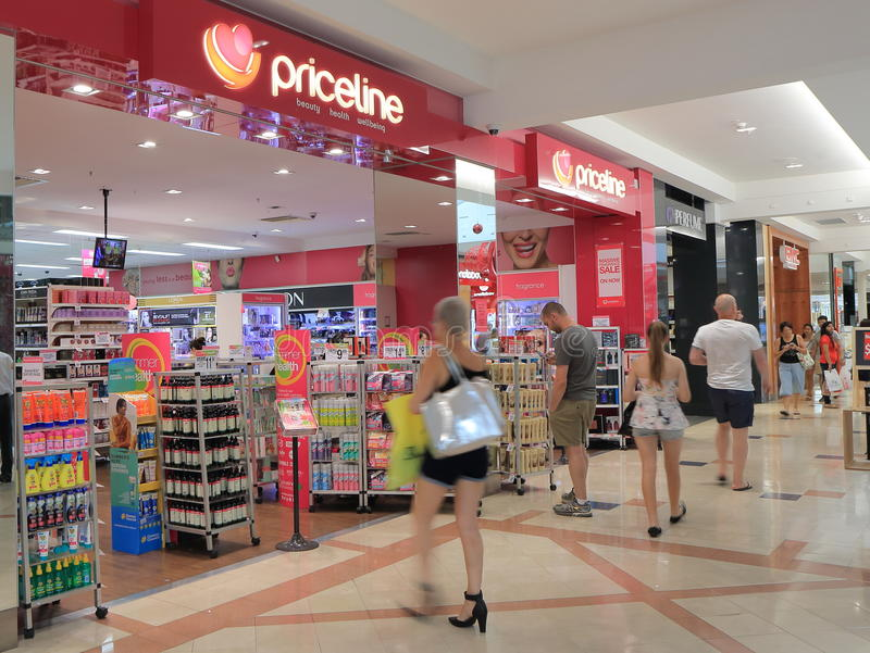 Priceline retail store Australia. Priceline store, health and beauty retailer with over 320 stores in Australia stock photos