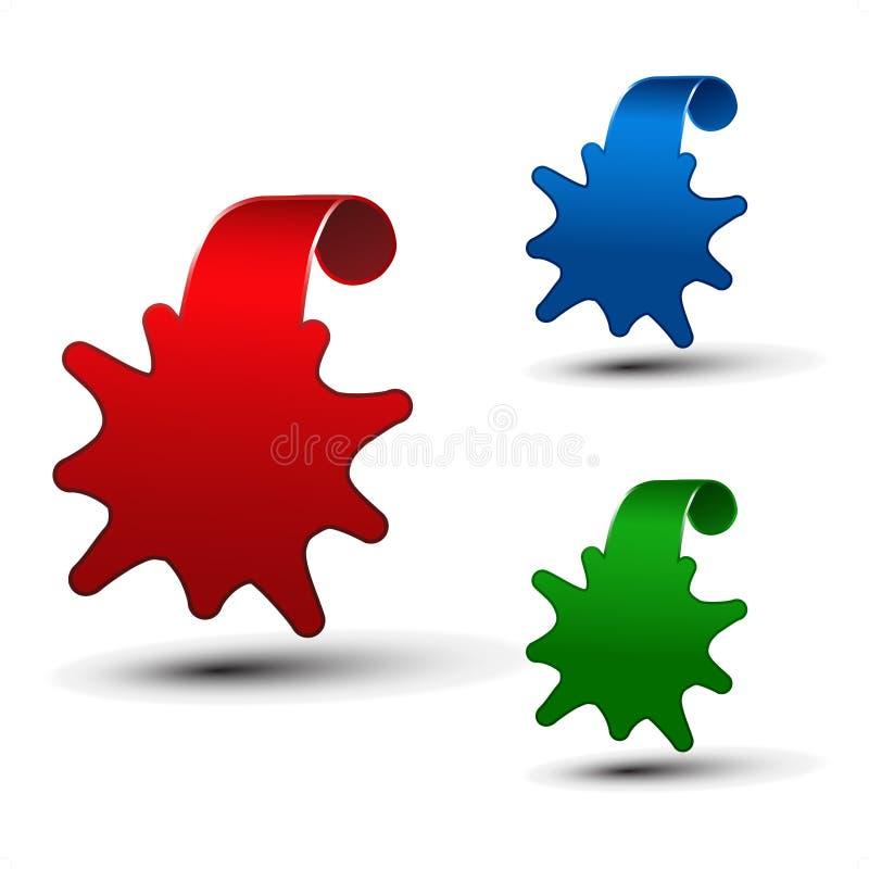 pricetags de vecteur - étiquettes de l'information illustration de vecteur