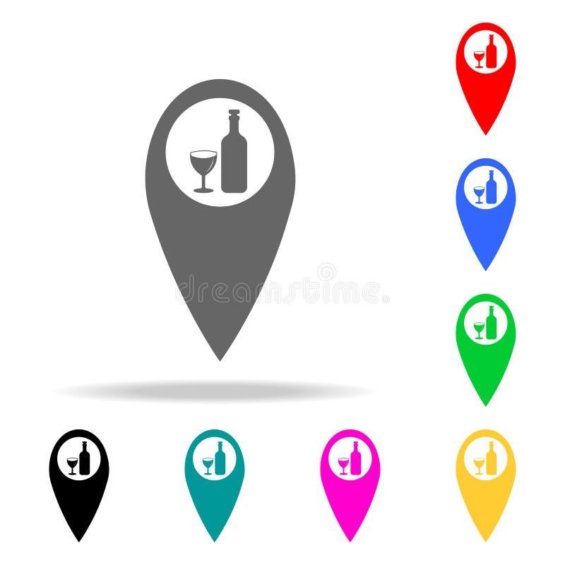 prick på översiktsstångsymbolen Beståndsdelar av stången i mång- kulöra symboler Högvärdig kvalitets- symbol för grafisk design E royaltyfri illustrationer
