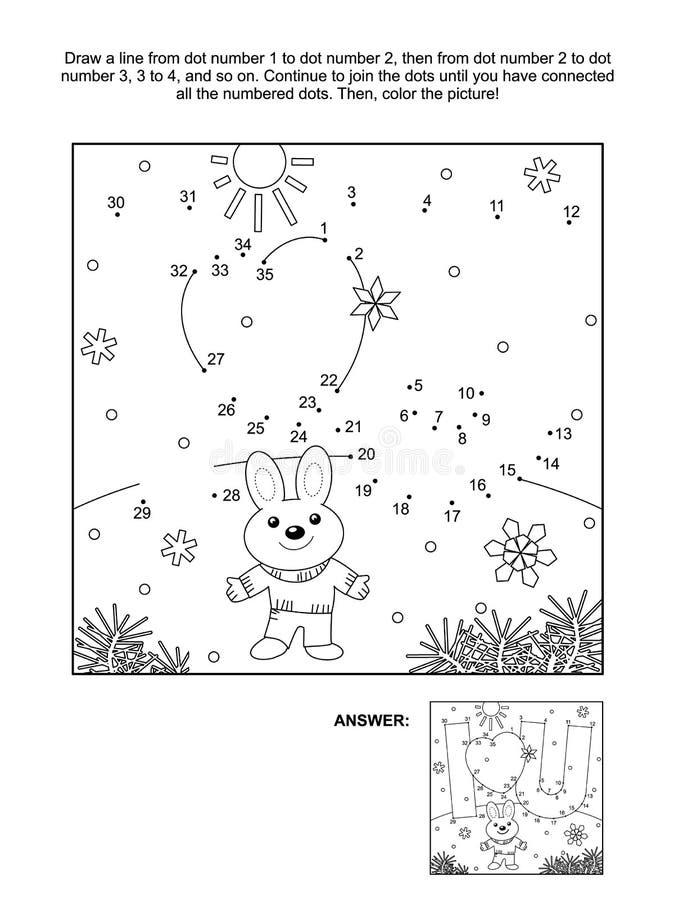 Prick-till-pricken för dagen för valentin` s och färgläggningsidan med älskar jag dig det dolde meddelandet vektor illustrationer