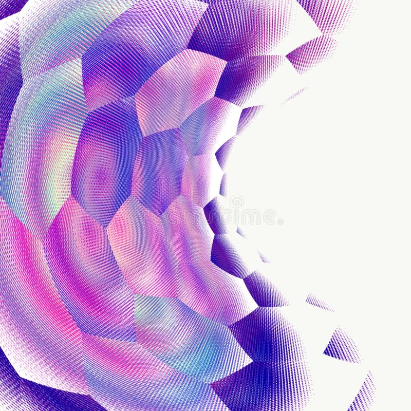 Prickar för modell för bakgrund för Digital kalejdoskopabstraktion geometriska stock illustrationer