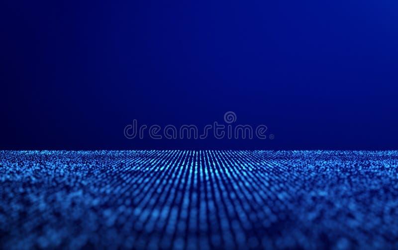 Prickar för nätverksanslutningar på blåttabstrakt begreppbakgrund royaltyfri illustrationer