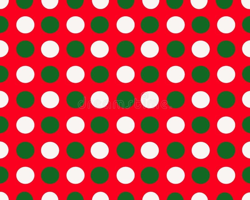 Prickar för vit och för gräsplan för röd julbakgrund vita royaltyfria bilder