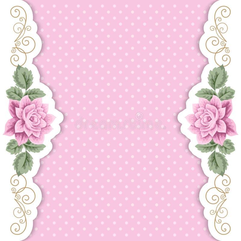 Prickbakgrund med rosor royaltyfri illustrationer