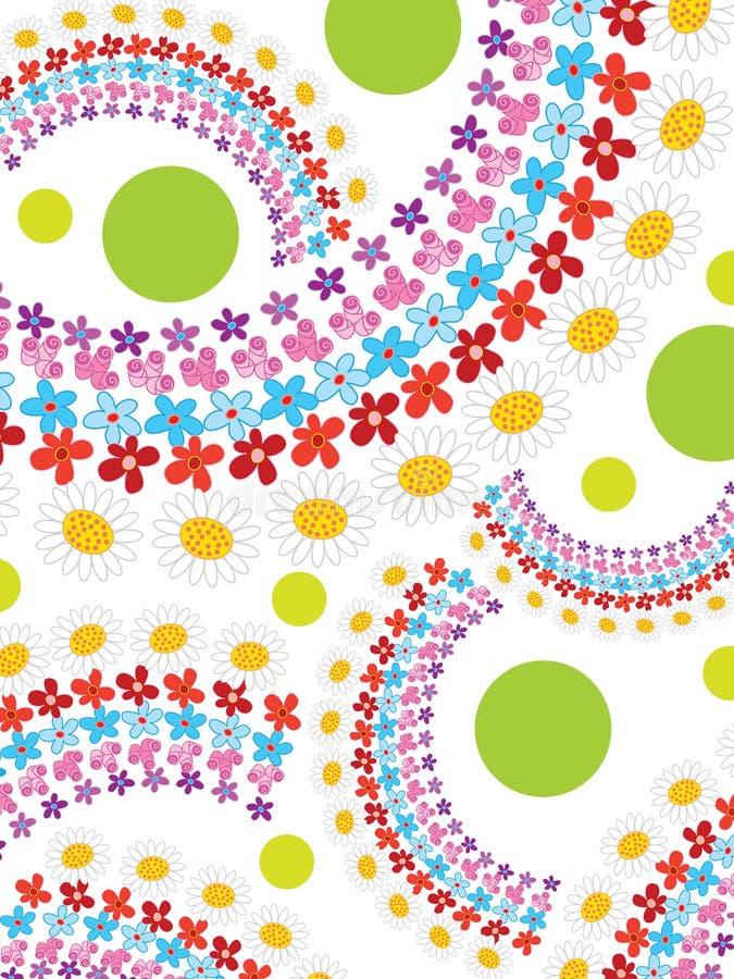 pricken blommar regnbågefjädern stock illustrationer