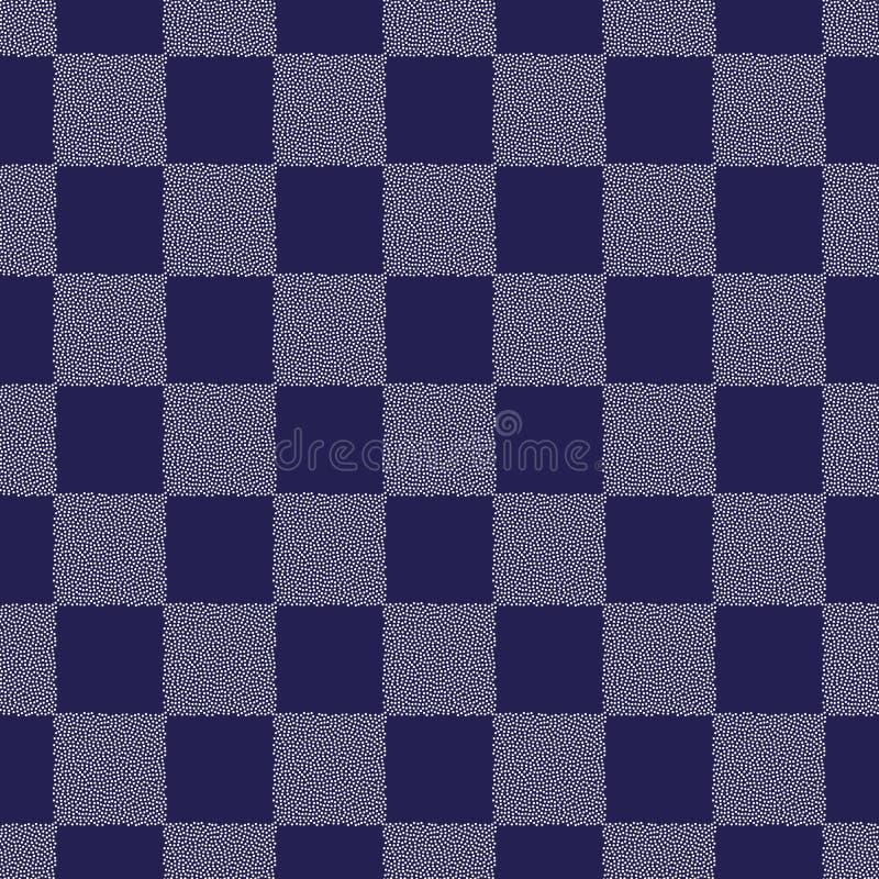 Pricker modellen för vektorn för schackbrädet den sömlösa Abstrakt geometrisk prickig textur för yttersidadesignen, textil som sl stock illustrationer