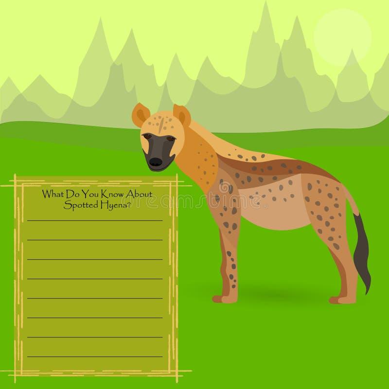 prickig afrikansk hyena royaltyfri illustrationer
