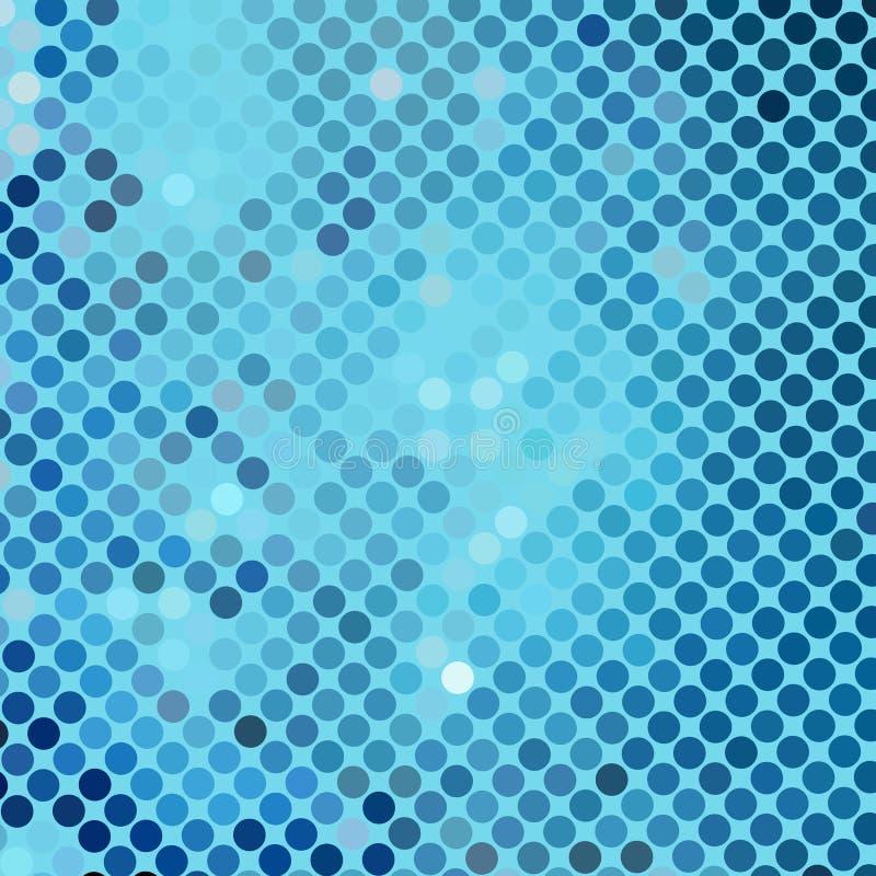 Prickig bakgrund för abstrakta blått stock illustrationer