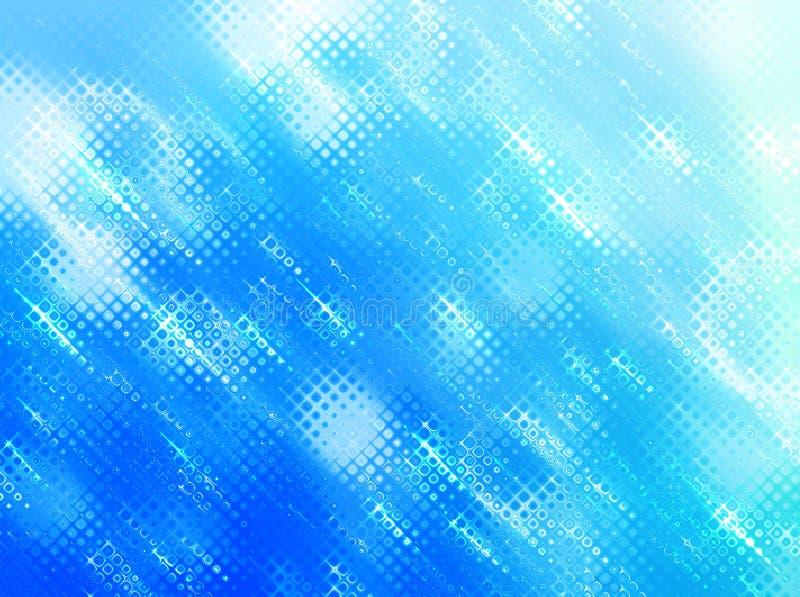 Prickig bakgrund för moderna blått vektor illustrationer