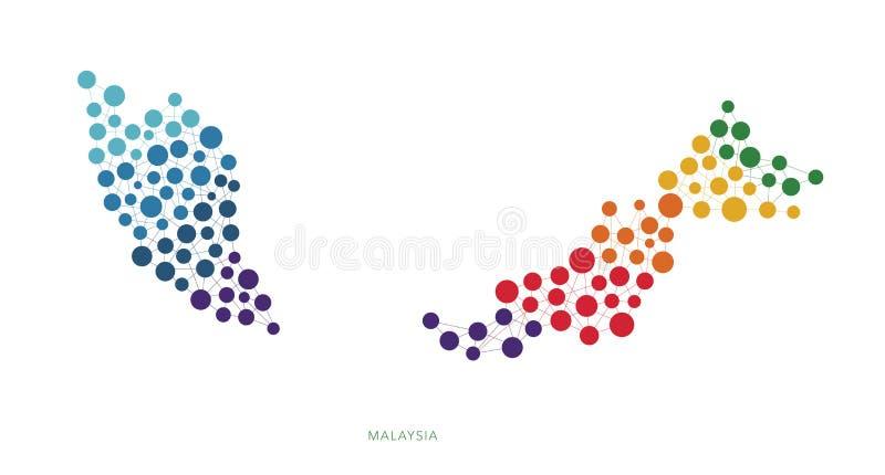 Prickig bakgrund för texturMalaysia vektor royaltyfri illustrationer