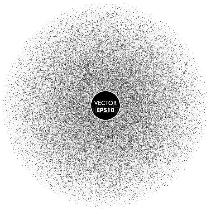 Prickig bakgrund för vektor Rastrerad textur för prickar royaltyfri illustrationer