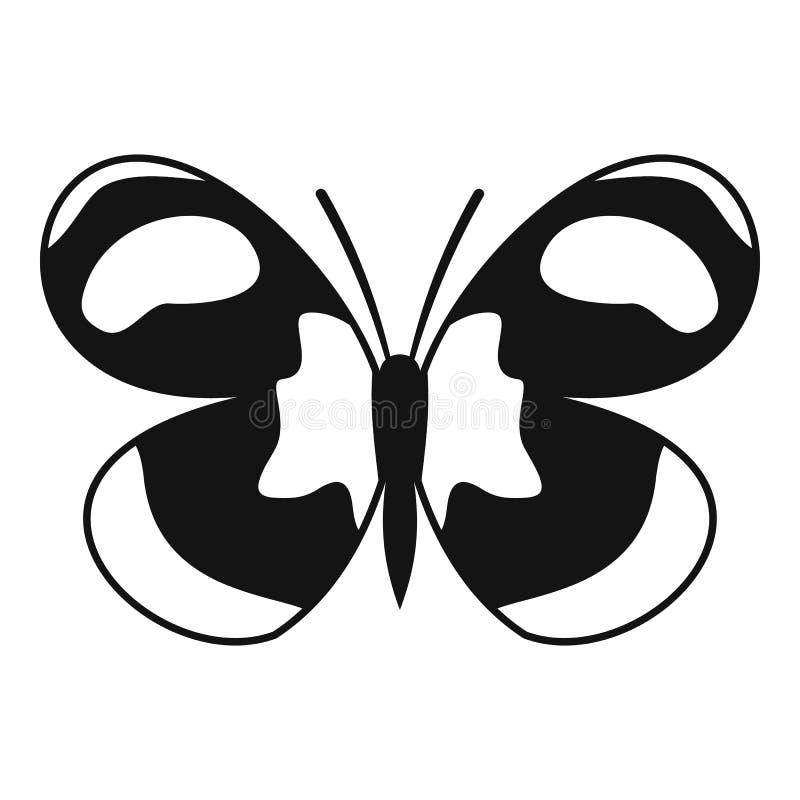 Prickig fjärilssymbol, enkel stil stock illustrationer