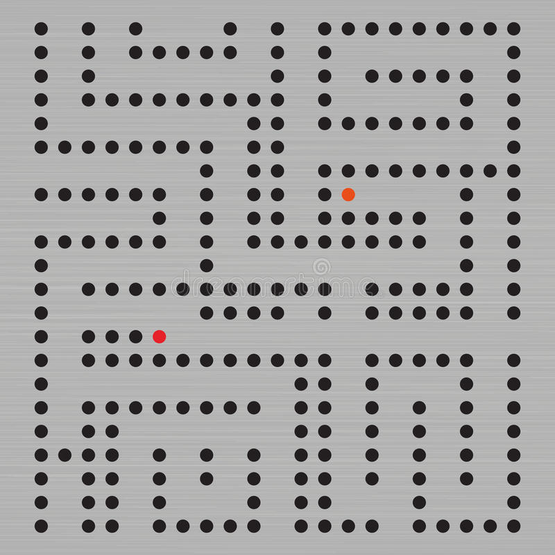 Prickig labyrintmodell - abstrakt bakgrundsdesign vektor illustrationer