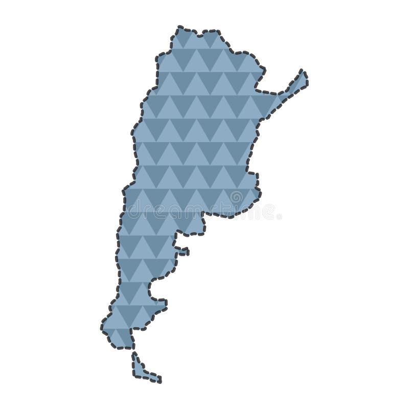 Prickig linje översikt av Argentina vektor illustrationer