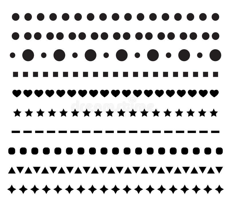 Prickig linje symbol på vit bakgrund Plan stil ställ in den prickiga linjen symbolen för din webbplatsdesign, logoen, appen, UI L royaltyfri illustrationer