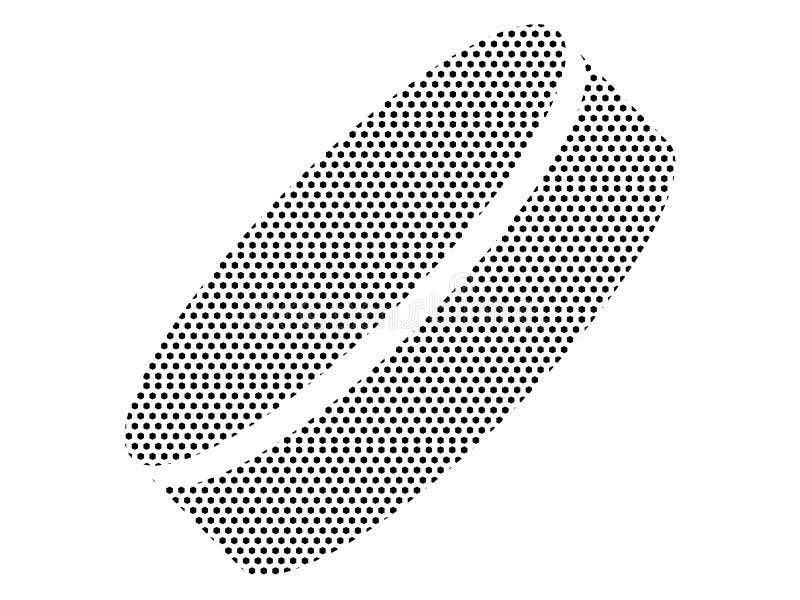 Prickig modellbild av en hockeypuck stock illustrationer
