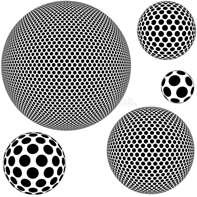 Prickig Sphere stock illustrationer