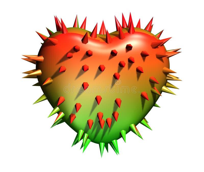 prickly hjärta vektor illustrationer