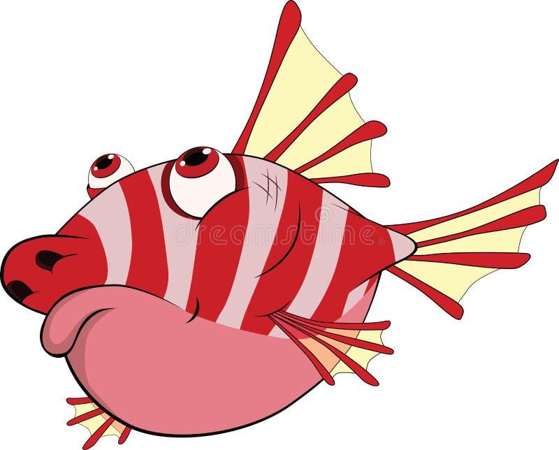 prickly litet för tecknad filmkorallfisk stock illustrationer