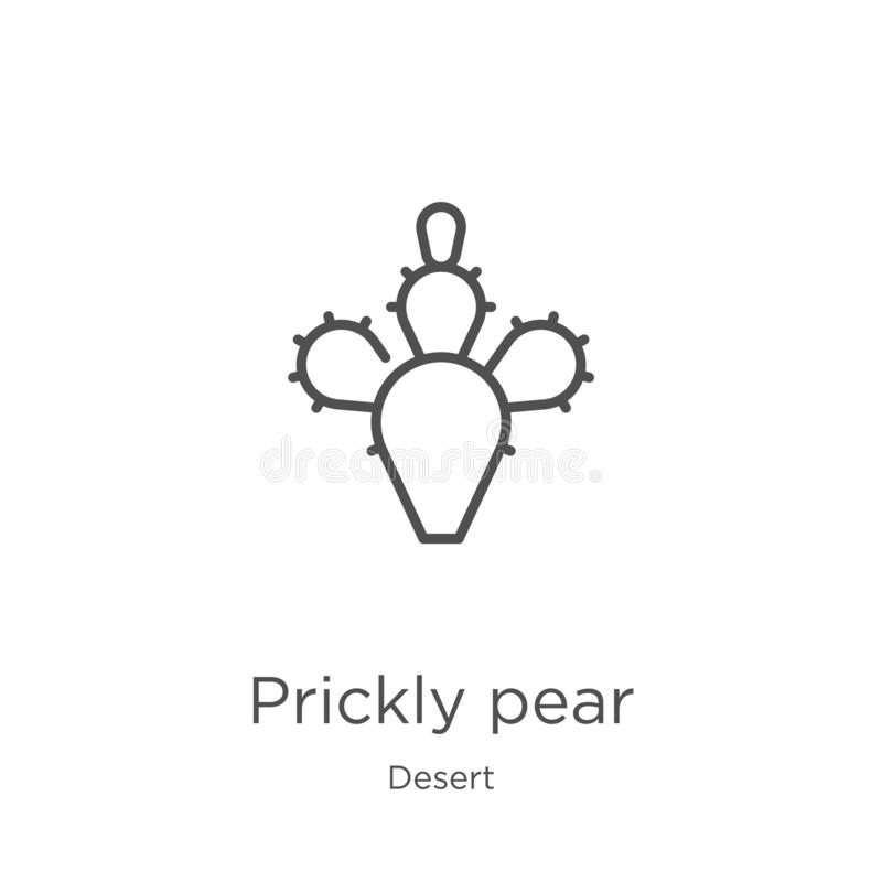 prickly pear icon vector from desert collection. Thin line prickly pear outline icon vector illustration. Outline, thin line stock illustration
