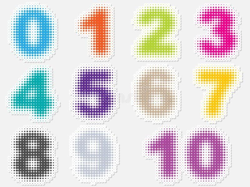 pricknummer vektor illustrationer
