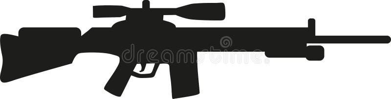 Prickskyttgevär med räckvidd royaltyfri illustrationer