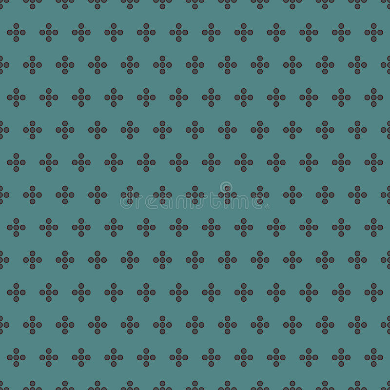 pricktextur Sömlös yttersidamodell med den klassiska geometriska prydnaden Upprepat cirkelmotiv din illustration för bakgrundsbub stock illustrationer